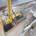 Estaca escavada de grande porte